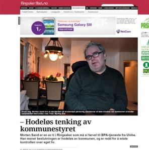 Faksimile Ringsaker Blad – Hodeløs tenking av kommunestyret