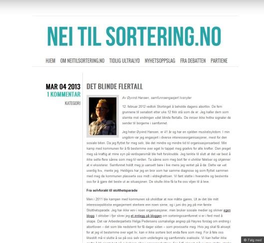Lenke til Nei til Sortering